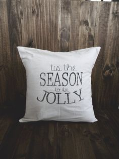 Tis The Season 16 x 16 Christmas Pillow Cover, seasonal home decor, present, housewarming gift, cushion cover, throw pillow