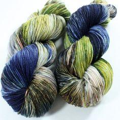 Hand Dyed Sock Yarn - SW Sock 80/20 - Superwash Merino Nylon - 400 yards - Creekside