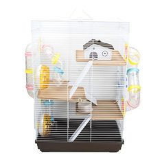 GNB Pet 3 Levels Ultra Large Hamster DIY Cage Habitat with Complete Tunnel Module CAGE05 Coffee Hamster Diy Cage, Hamster Stuff, Mouse Cage, Hamster Habitat, Pets 3, Habitats, Pet Supplies, Coffee, Color