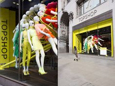 TOPSHOP windows by NEON architects & studioXAG, London visual merchandising