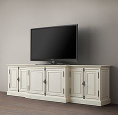 """French Casement 107"""" Closed Media Console"""