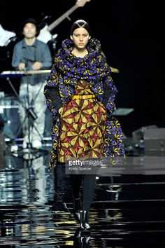 A model walks the runway during the Issey Miyake show as part of Paris Fashion Week Womenswear Fall/Winter 2015/2016 at Espace Ephemere Tuileries on March 6, 2015 in Paris, France.