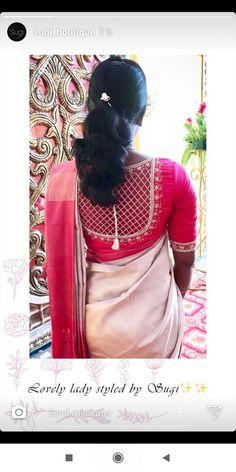Kalamkari Blouse Designs, Saree Blouse Neck Designs, Bridal Blouse Designs, Pattern Blouses For Sarees, Simple Blouse Designs, Stylish Blouse Design, Chudidhar Designs, Sleeves Designs For Dresses, Hairstyles