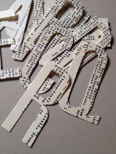 Library Card Catalog Index Cards Die Cut Alphabet by TheSecretChicken