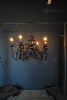 Bone Chandelier Gothic Chandelier Original Scupture by AGC916,