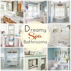 Dreamy spa bathroom ideas and color schemes @Mandy Dewey Generations One Roof