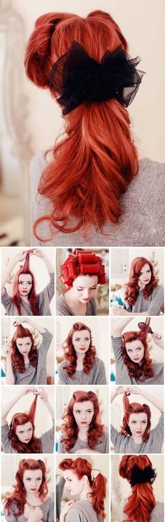 Hairstyle For Retro Look