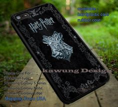 Book Cover Harry Potter Deathly Hallows DOP780  case/cover for iPhone 4/4s/5/5c/6/6 /6s/6s  Samsung Galaxy S4/S5/S6/Edge/Edge  NOTE 3/4/5 #movie #harrypotter