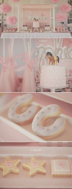 Cowgirl Ranch themed birthday party FULL of ideas! Cute girl farm themed party via Kara's Party Ideas KarasPartyIdeas.com #farm #vintage #cowgirl #ranch #rose #cake #horse #party #idea