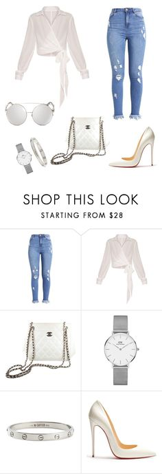 """Classic White Day"" by thavore ❤ liked on Polyvore featuring Chanel, Daniel Wellington, Cartier and Christian Louboutin"