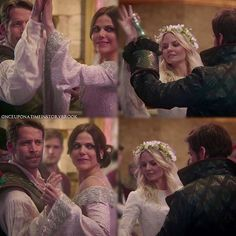 This was so cute they were copying captain swan ❤️ because they were kissing and lost track of the dancing