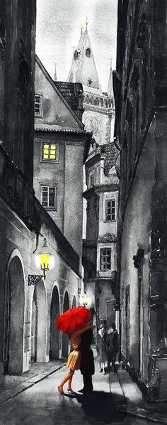 paris acrylic painting - Google Search