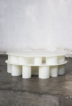 WHITE RUBBER TABLE | BRIAN THOREEN
