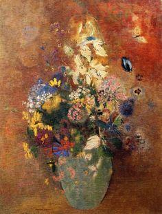 Bouquet of Flowers Odilon Redon - circa 1912