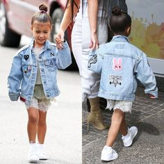 "6,125 Likes, 24 Comments - @kardashianuniverse_ on Instagram: ""Northie yesterday. ❤ Jacket by @heybabela """