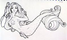 Mermaid Tramp Stamp Colored by kerinewton on deviantART