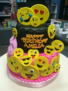 Emoji Birthday Cake - Adrienne & Co. Bakery