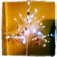 Arbol de Navidad encendido