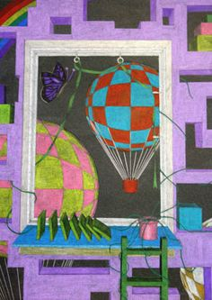 Perspective Middle School Art, Art School, 7th Grade Art, High School Art Projects, Art Assignments, Surrealism Art, Perspective Drawing, Principles Of Design, Teaching Art