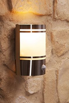 Outdoor wall light Milau with PIR sensor