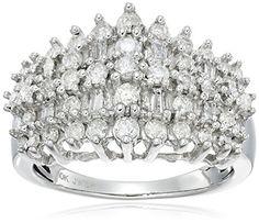 10k White Gold Diamond Fashion Ring (…