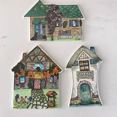 House of love never ends # China - Haus Design Porcelain Ceramics, Ceramic Pottery, Ceramic Art, Clay Houses, Ceramic Houses, Ceramics Projects, Clay Ornaments, Paper Clay, Tole Painting