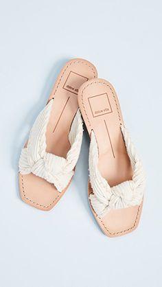 dolce vita white knit haviva sandals