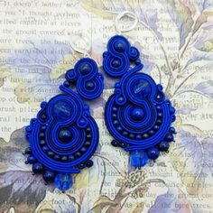 Soutache Necklace, Handmade Jewellery, Shibori, Ring Earrings, Beaded Embroidery, Quilling, Jewelery, Resin, Projects To Try