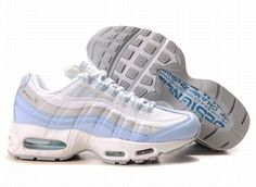 size 40 ca432 3ec07 Find Womens Nike Air Max 95 Blue White New Release online or in Pumaslides.  Shop Top Brands and the latest styles Womens Nike Air Max 95 Blue White New  ...