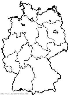 Deutschland, Bundesländer, Hauptstädte   Karte deutschland ...