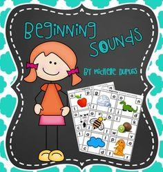 Beginning sound cards. (Phonemic awareness)
