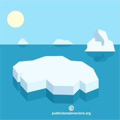 Ice floating on the sea vector image #publicdomain #vectorgraphics #freevectors #illustrator #clipart #freevectors