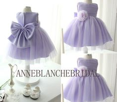 Purple Flower Girl dress Tulle Ball Gown with by anneblanchebridal, $69.99