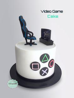 Torta Videojuegos - Videogames Cake by Giovanna Carrillo for men Bolo Xbox, 18th Birthday Cake For Guys, Birthday Cakes For Boys, Funny Birthday Cakes, Blue Birthday, Happy Birthday, Playstation Cake, Xbox Cake, Video Game Cakes