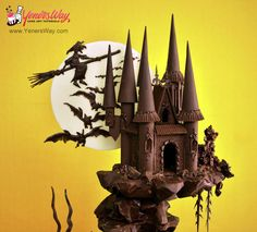 EDITOR'S CHOICE (10/26/2014) Spooky Chocolate Castle Cake by Yeners Way - Cake Art Tutorials View details here: http://cakesdecor.com/cakes/163813-spooky-chocolate-castle-cake