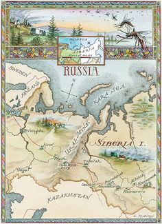 42218 Map of Russia St. Petersburg 1925 Siberia is Farther East Here! Where is Moscow? Old Maps, Antique Maps, Vintage World Maps, Space Map, Russia Map, Pictorial Maps, City Maps, Plans, Science And Nature