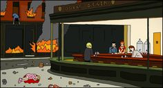 parodies de Nighthawks dEdward Hopper nighthawks parodie 017 list of design art
