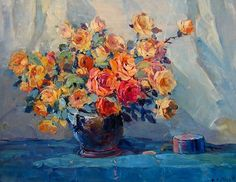Hanson Puthuff Still Life with Roses 20th century