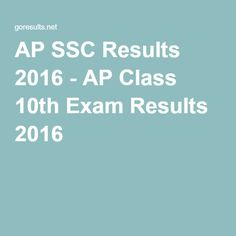 24 Best 10th Class Board Results images in 2016 | 10th exam