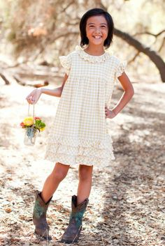 Butter Gingham Sunday Best Dress