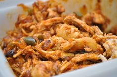 Easy and tasty pulled chicken.