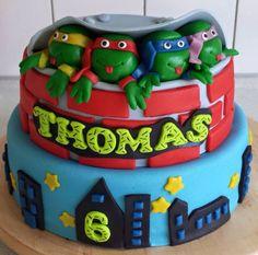 Teenage mutant Ninja Turtles taart