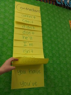 Contractions flip chart, learning how to drop the letters! Emerald City: Classroom Set-Up!