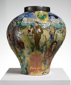 On View | Where Arts and Crafts Are One - NYTimes.com  Vase is by Grayson Perry, UK. 2011.