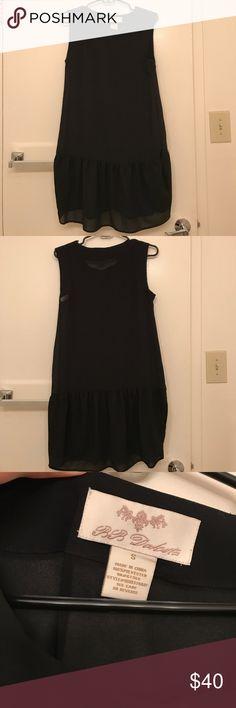 BB Dakota Black sheer dress Short black sheer dress, meant to fit loose and must be worn with a slip underneath. BB Dakota Dresses Mini