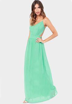 Light Green Plain Sleeveless Wrap Maxi Dress