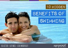 10 Hidden Health Benefits of Swimming ... Swimming is great for your physical health by providing a low-impact cardio workout. Yet there are many other significant health benefits which have remained relatively unknown and unpublicised … until now ... http://ageproofliving.com/health-benefits-of-swimming
