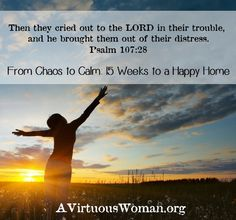 From Chaos to Calm: 15 Weeks to a Happy Home {Daily Podcast and Devotion} | A Virtuous Woman #fromchaostocalm