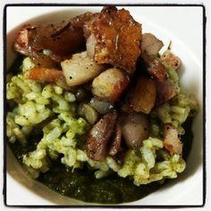 Finto risotto vellutato nei broccoli e porchetta www.fiammaefornelli.it