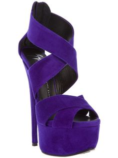 Giuseppe Zanotti Design Cross Strap Platform Sandal